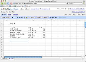 Googlespreadsheets